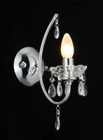 Factory Direct Sale Luxury Silver K9 Crystal Bracket Light/Wall Lamp