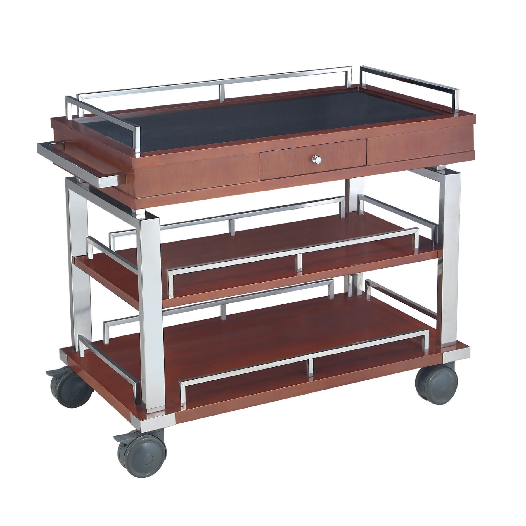 Hotel Service Flambe Trolley/ induction cooker trolley