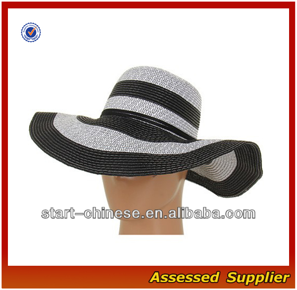 CY100/wide brim straw floppy hat for women/ fashion straw hat/ ladies dress hats wholesale