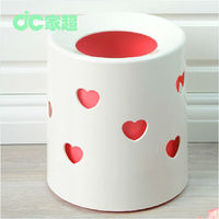 European style plastic no top creative fashion office desk dustbin