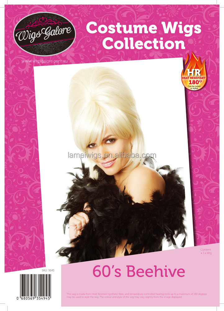 Newlook Q9145 Elegant twist cosplay party golden wig factory cheap synthetic women princess queen hair weft