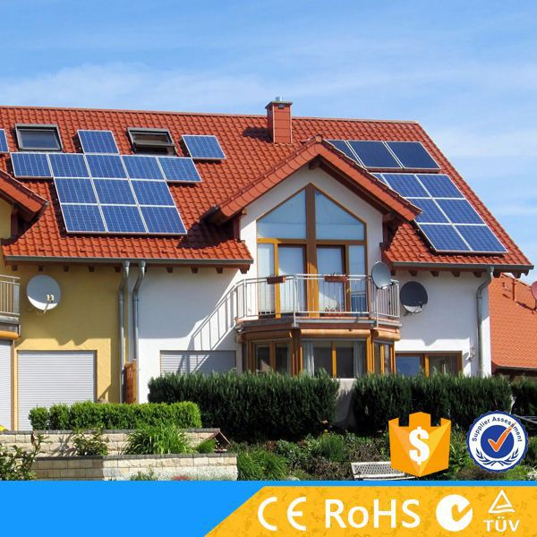 Solar energy equipment 4KW solar power system home use with on grid switch for sale