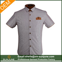 Tailored fit gents La chemise hommes casual stripe shirts design