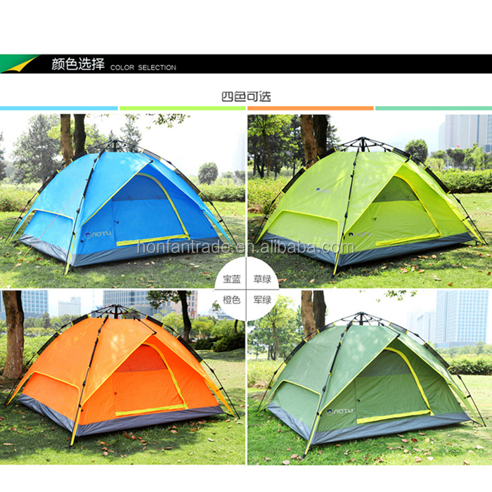 3-4 person Double layers Automatic Camping Tent Waterproof for outdoor Sports wedding party