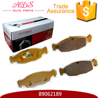 auto parts front wheel ceramic disc brake pad car manufacturers for Sail 1.6 OEM: 89062189