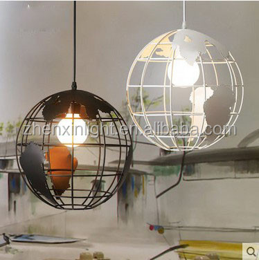 2016 Modern home earth Wholesale globe iron Simple Style pendant light