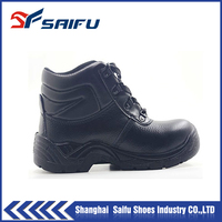 SF855 genuine leather pu injection safety shoes for work