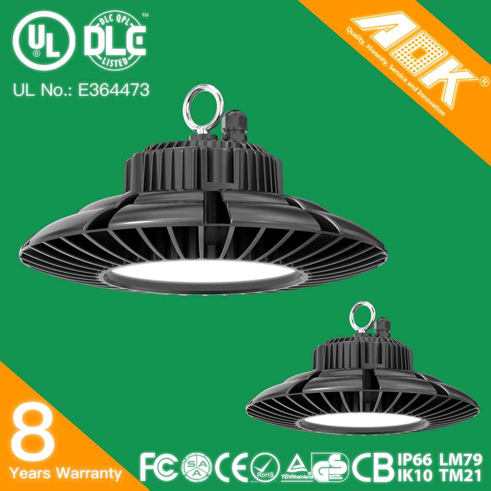 Factory direct 140lm/<strong>w</strong> 5 years warranty IP65 UL DLC CE RoHS 100W Industrial Led High Bay Light