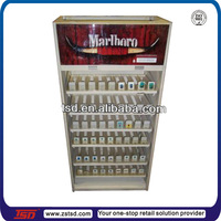 TSD-A772 custom store pos illuminated metal cigarette display cabinet,tobacco display rack,cigarette display shelves