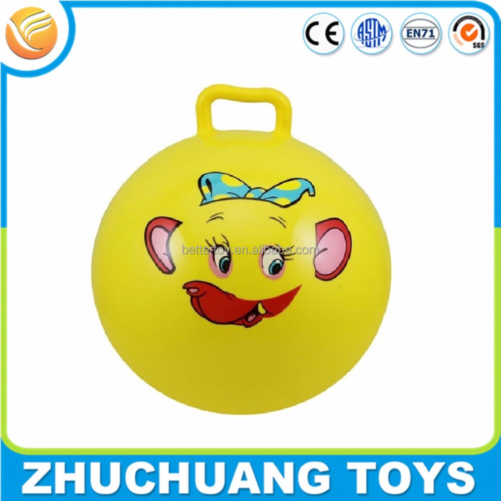 pvc inflatable custom bouncy balls with handle