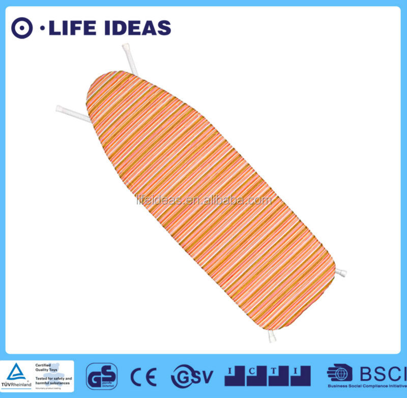 Decorative orange stripes print cotton ironing board cover