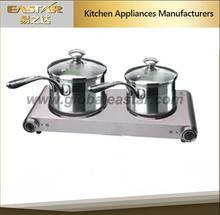 2 burner electric hot plate electric double stove 2500w CE GS approval for cooking or gift made in china
