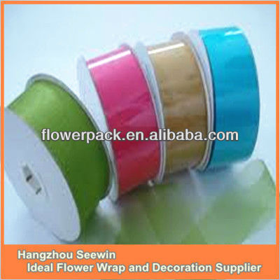 China Hot Colorful Cut Edge Organza Ribbon