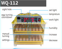 CE marked 128 egg capacity incubator , egg incubator 128 eggs in dubai , mini 112 egg incubator for sale