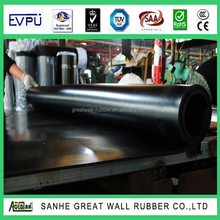 Great Wall Fabric surface Hypalon rubber sheet Black good quality Hypalon rubber