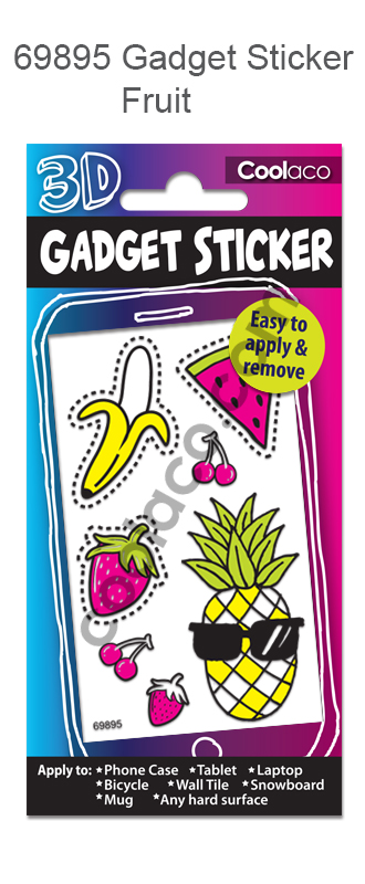 Gadget 3D sticker Stationery sticker car sticker Fruit