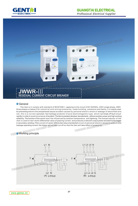 Hot Sale Earth Leakage Micro Circuit Breaker Overload Short Circuit ...