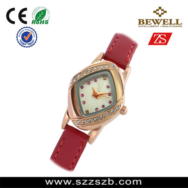 Hot! gold plated alloy diamond fashion lady watch high brighness wrist watch