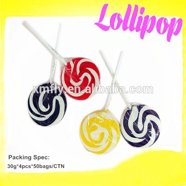 giant rainbow big bom lollipop with fruit flavour candies