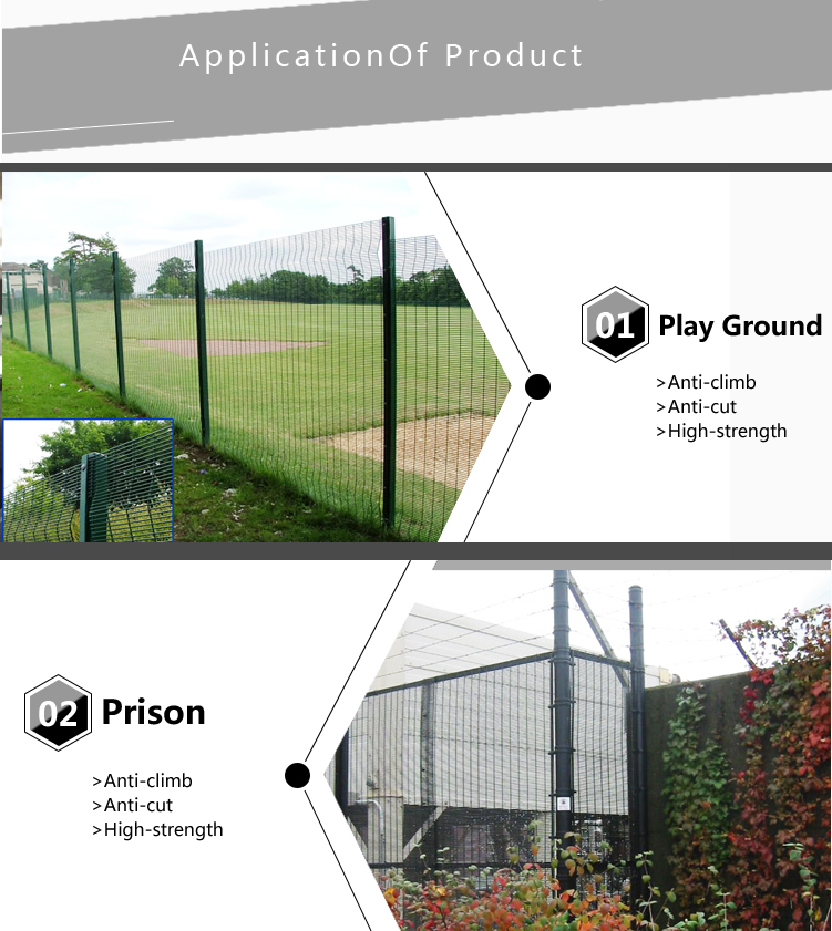 China Suppliers PVC Fence Panels Stainless Steel Wire Fence and Used Wrought Iron Fence Panels