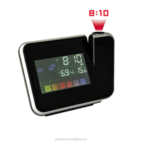 Hot sell in Amazon digital alarm snooze clock projection clock color screen weather station