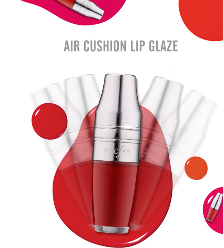 Wholesale MACFEE air cushion lip glaze moisturizing long lasting non-fade lip gloss