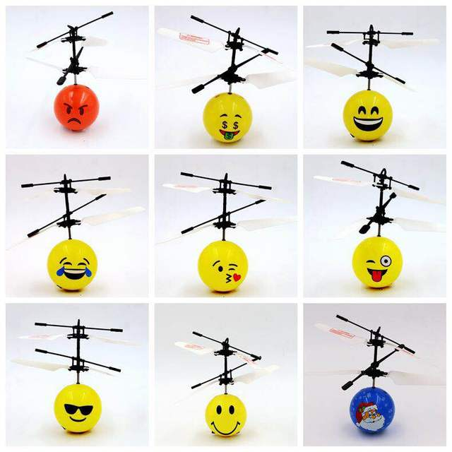 NEW product Charming Fashion Interesting Mini Flying Ball Toy Cool Emoji Face flying Ball for Kids
