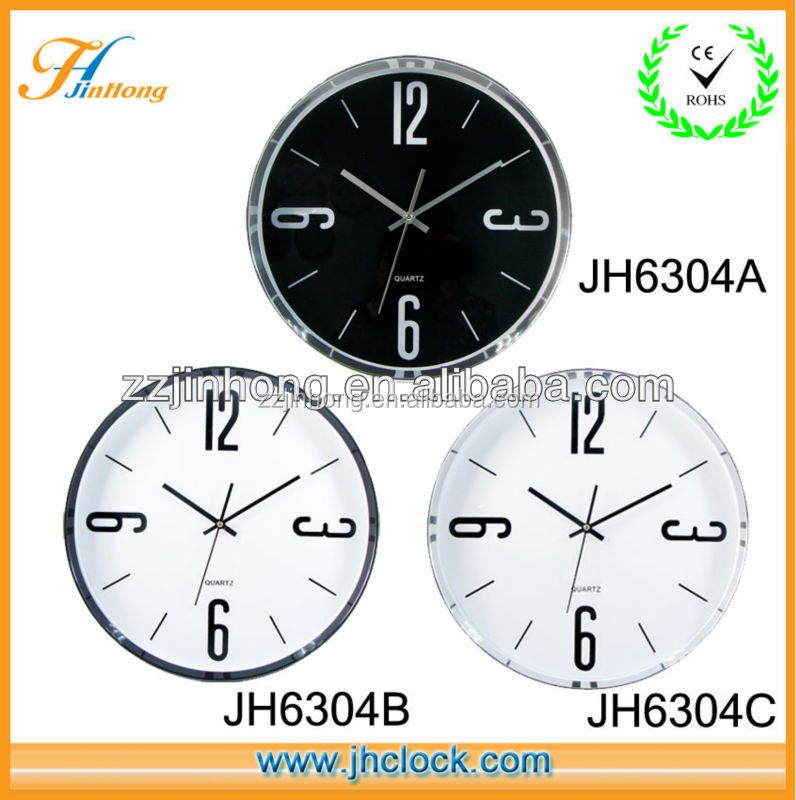 cheap Chrom Frame colorful promotion wall clock