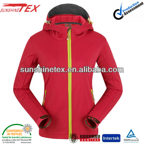 Winter woman clothes 2014 softshell jacket