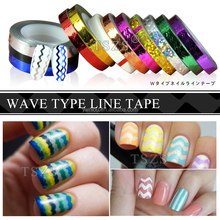 3D Nail watermark Waves Striping Tape Line Nail Art Tips Decor Sticker