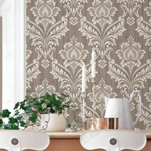 Factory price wholesale heavy thick wall paper Italian elegant classic design damask wallpaper