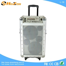 pocket portable spekaer silver portable trolley speakers active trolley speaker
