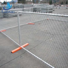 High quality easily assembled playground chain link temporary fence panel manufacture