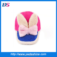 wholesale children lovely winter baseball felted wool hat MZ1329