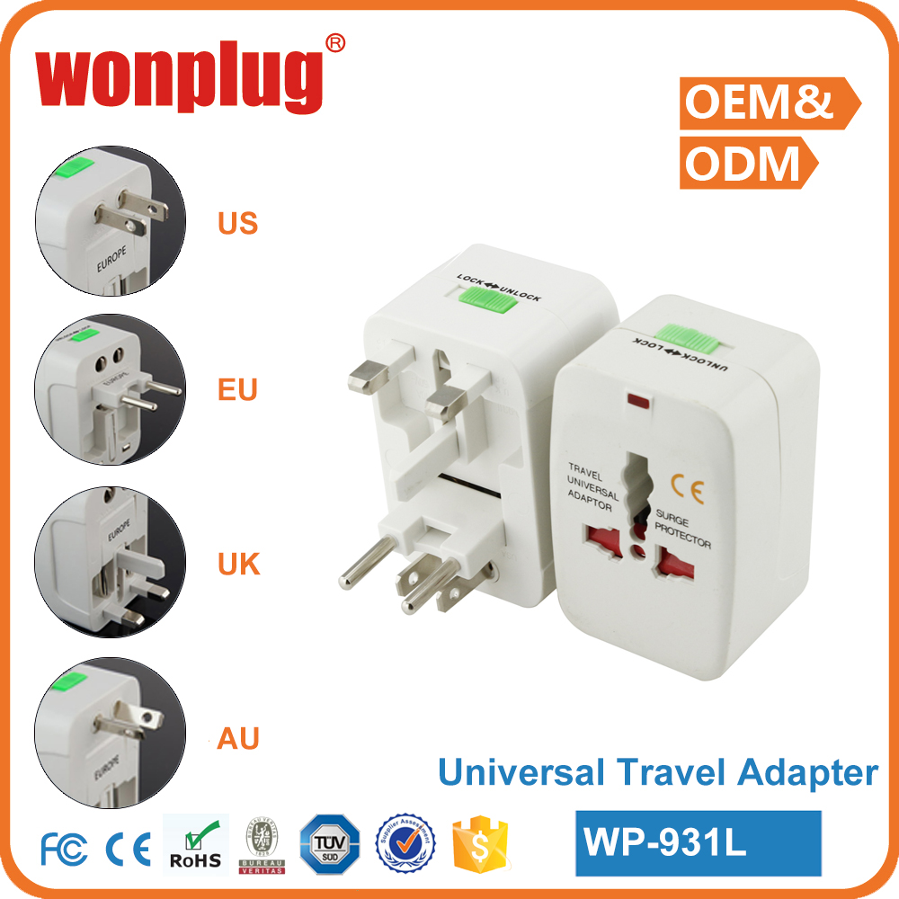 2016 hot sales ac travel power adapter,plug adaptor with CE&ROHS,great fashionable travel gifts