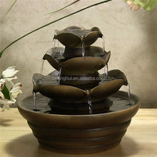 Flower Style Decorative Resin Indoor Water Fountains Wholesale