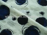 100%wool weave tweed printing fabric for clothes 2012 fashion design