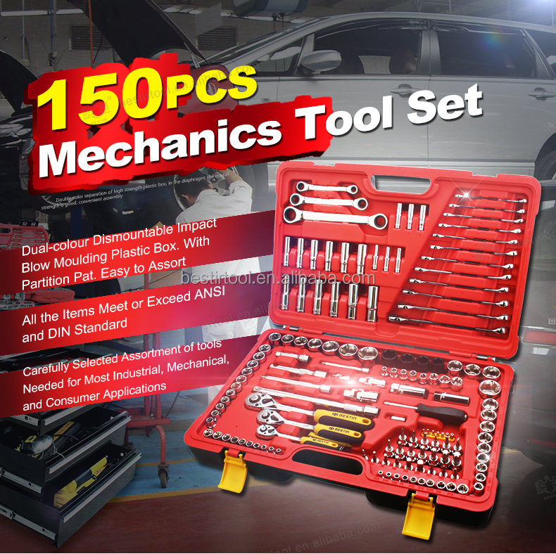 Bestir Tool Kit -- 150 PCS Mechanics Tool Set Mechanical Tools