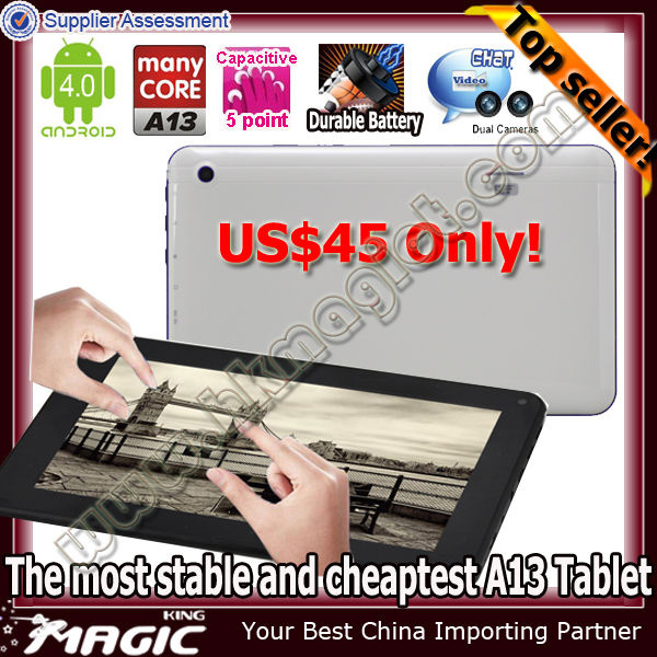 7 inch real built-in antenna wifi 3g android 4.0 tablet pc