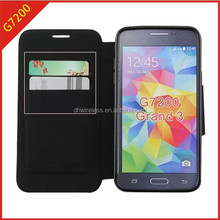 cell phone case for Samsung galaxy grand 3 pu leather with card holder,case for G7200