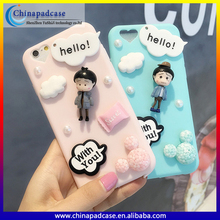 New Style Chibi Maruko silicone case for iPhone SE/3D Silicon back cover Case for iPhone 5 5s