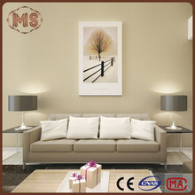2016 nonwoven backed wallpaper non woven suede simple color wallpaper for hotel