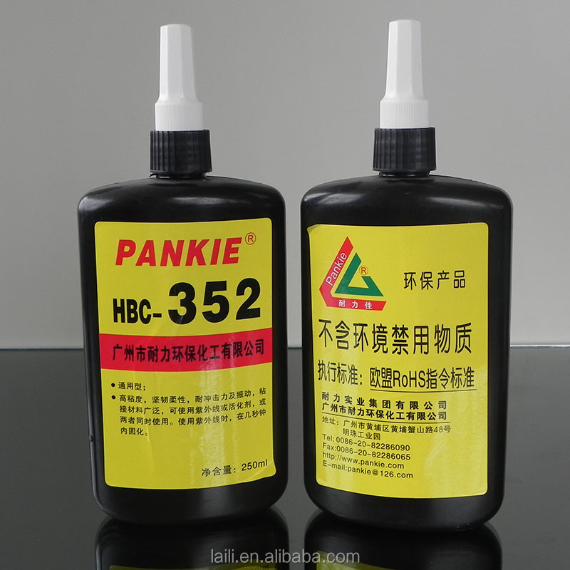 transparent UV light curing acrylic adhesive sealant glue for glass