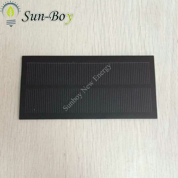 Monocrystalline 6V 1W PET Solar Panel with Opaque Color