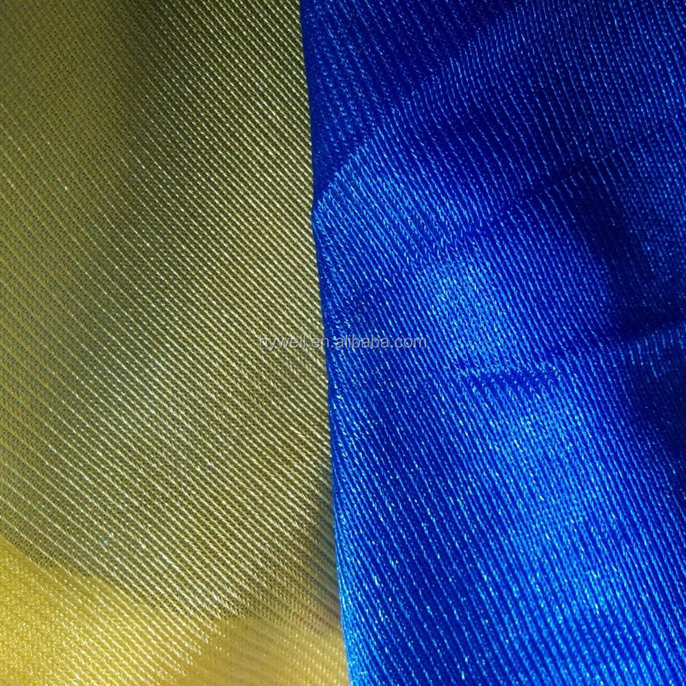 100% Polyester warp knitting tricot dazzle fabric