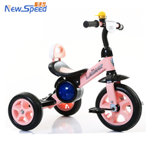 china factory outlet pedal kids trike/lightweight steel baby tricycle bike/wholesale air tire toddler 3 wheel car ride on toy
