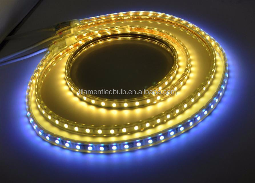 best led factory in china solar powered led strip lights 3528-60led/m 5m rgb 5050 on sale