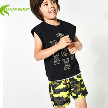 private label boys shorts polyester two side pockets gym shorts breathable running shorts