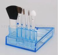 5 pcs gift brush set with case ,various colors are available