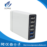 Best OEM AC 110-240V 6 ports usb wall charger